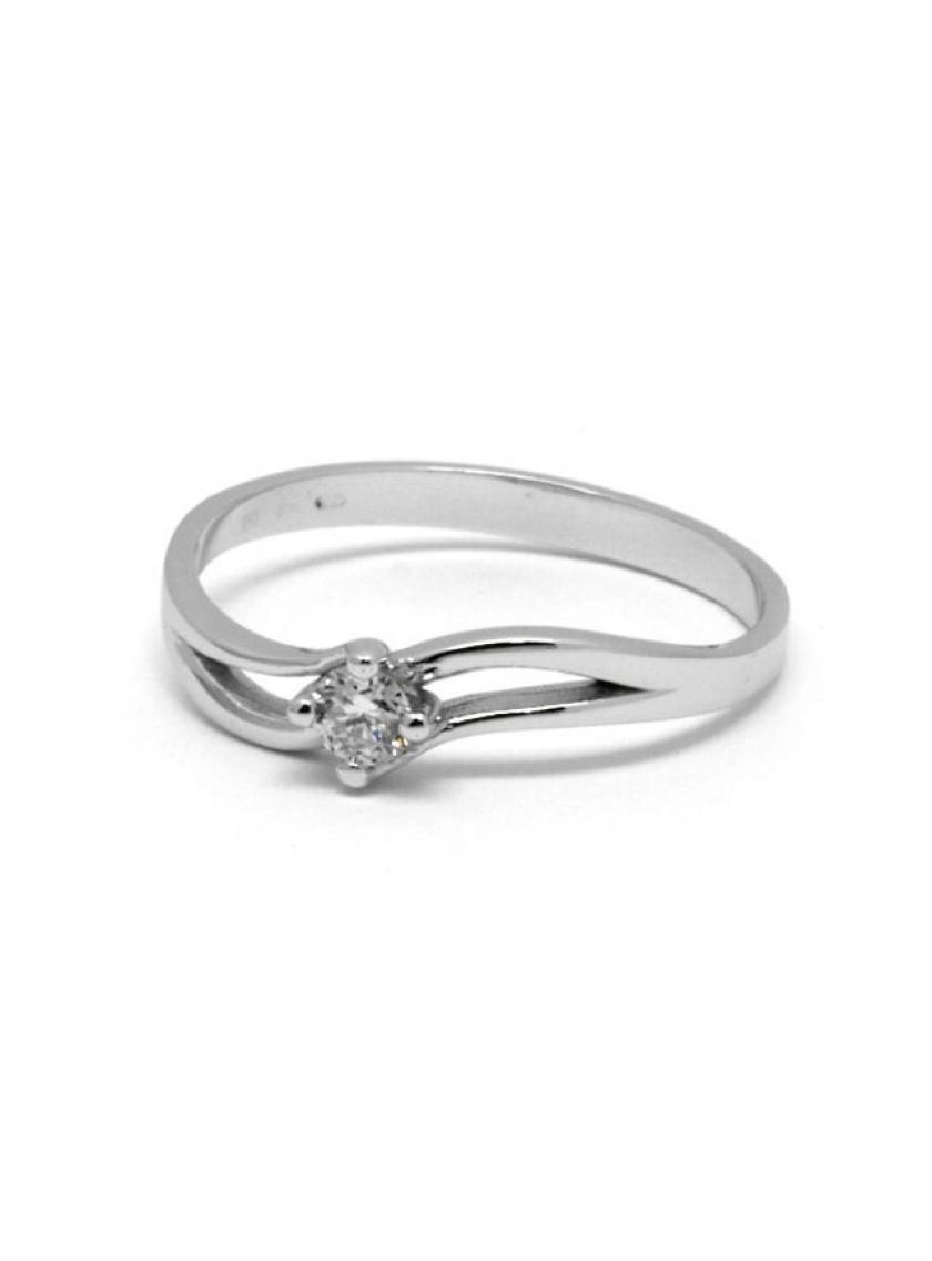 Prsten AU 585 000 př.diamant 2 19g OPTIMA JO2153701  4dc516dbf90