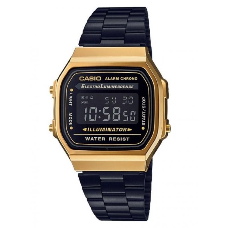 3D náhled Pánské hodinky CASIO Collection Retro A-168GB-1B 4bf340b265f