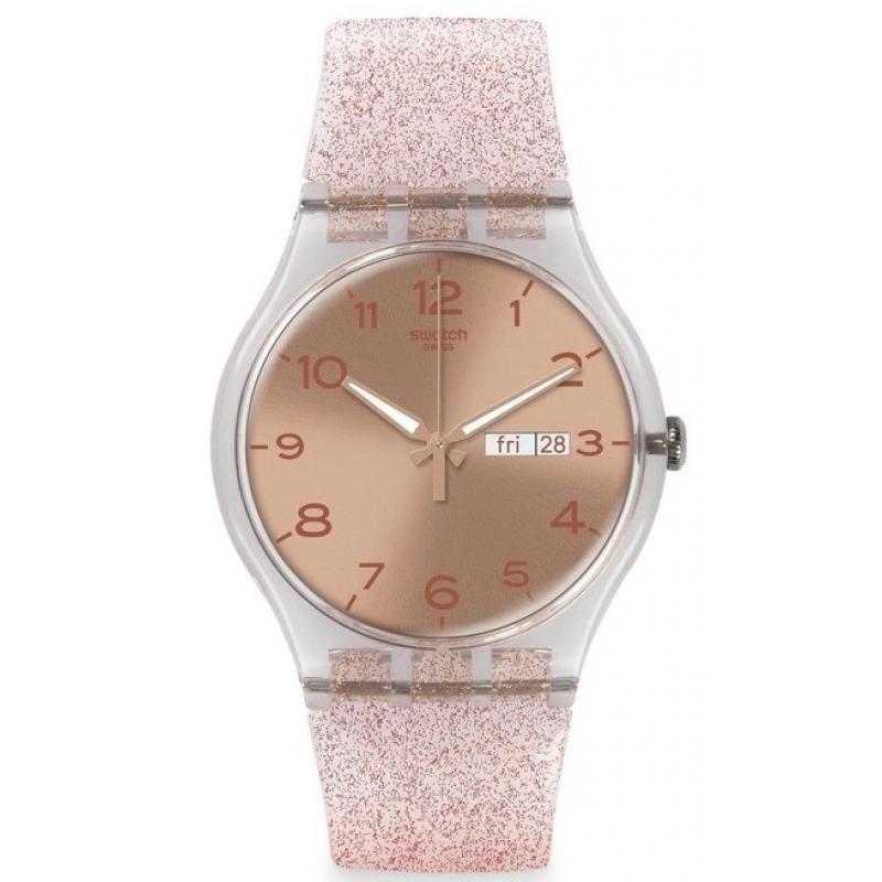 3D náhled Dámské hodinky SWATCH Pink Glistar SUOK703 d7bcec261ac