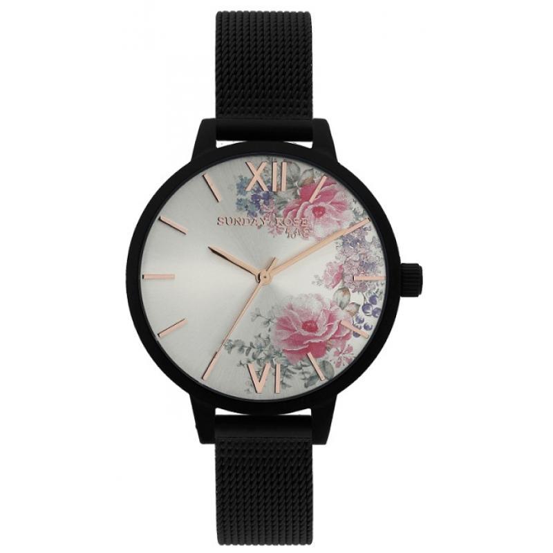Dámské hodinky JVD Sunday Rose Fashion Midnight Blossom SUN-F05 ... e96cebd6ab