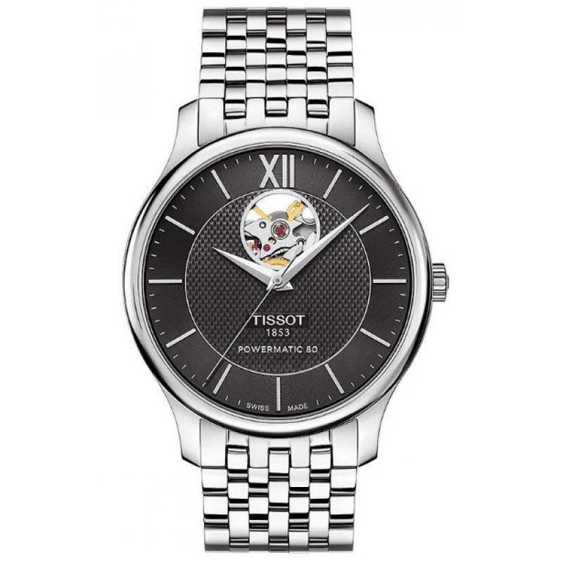 Pánské hodinky TISSOT Tradition Automatic Open Heart T063.907.11.058.00 b6eb8a40b11