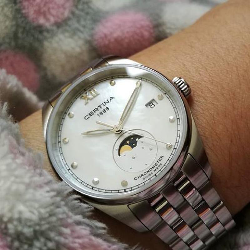 Dámské hodinky CERTINA DS-8 Moon Phase COSC Chronometr C033.257.11.118.00  ... 3d067dfe30